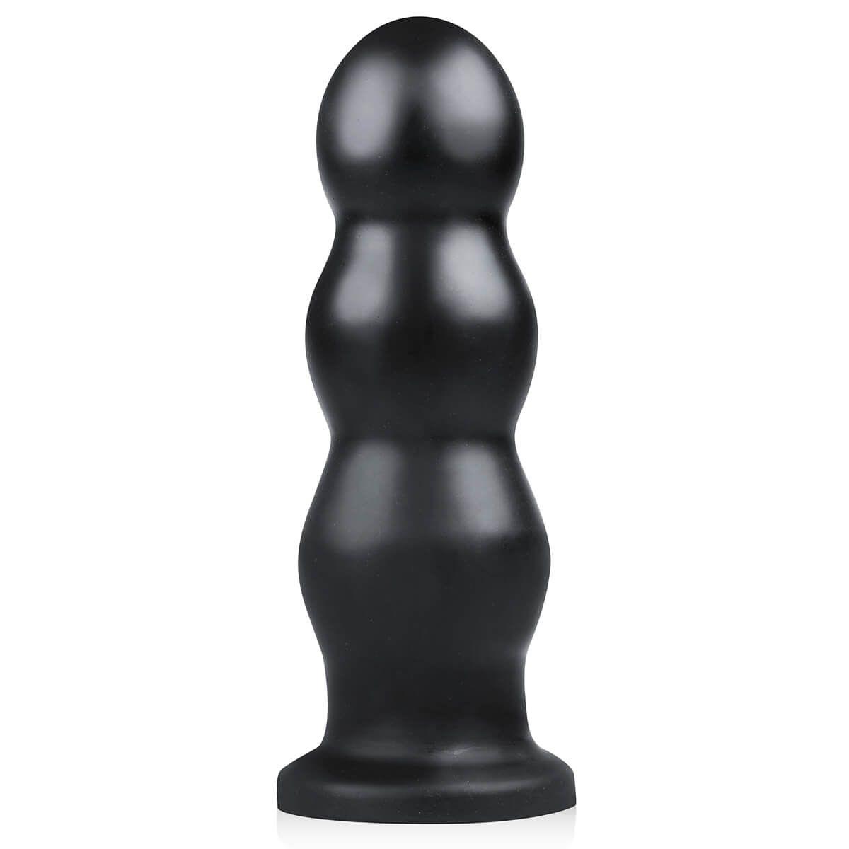 BUTTR Tactical III - tapadótalpas dildó (fekete)