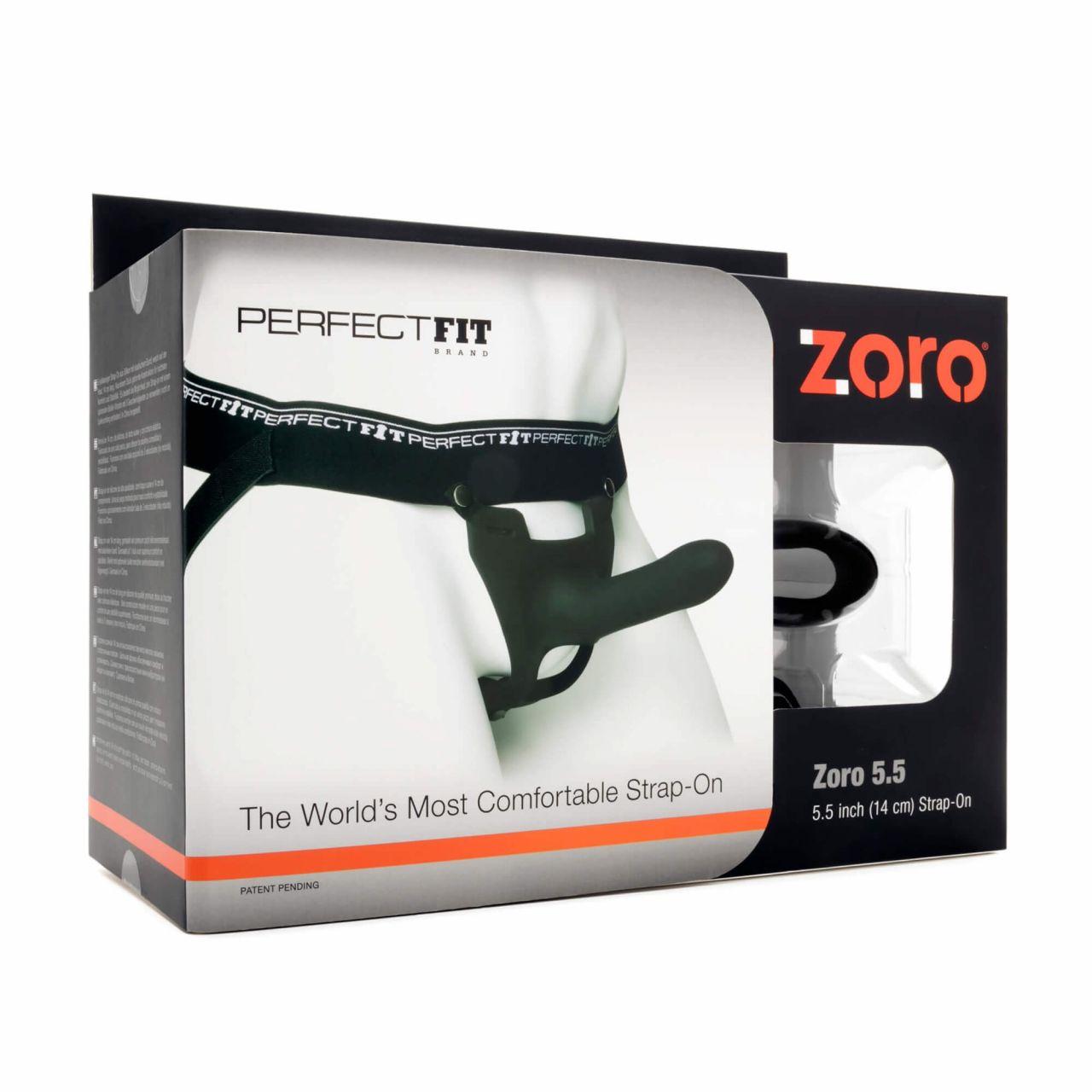 Perfect Fit ZORO 5.5- felcsatolható dildó (14cm) - fekete